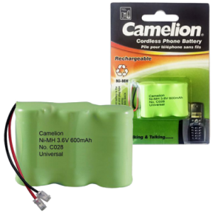 C028 ΜΠΑΤΑΡΙΑ CAMELION NI-MH 3NH-2/3AA 600mA  CAMELION