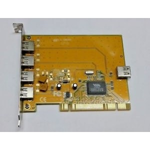 PCI Card 3 Ports external and 1 internal ports USB 2.0 VIA  [VT6202]
