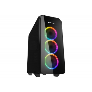 CC-COUGAR Case PURITAS RGB Middle ATX BLACK Tempered Glass USB 3.0