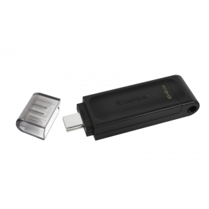 KINGSTON USB Stick Data Traveler DT70/64GB, USB 3.2 Type-C, Black