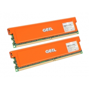 GeIL Ultra 2GB (2 x 1GB) 240-Pin DDR2 SDRAM DDR2 800 (PC2 6400) Dual Channel Kit Desktop Memory Model GX22GB6400UDC [N82E16820144028]