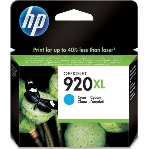 HP 920XL Cyan Cartridge Ink, 700 Pages  [CD972AE]