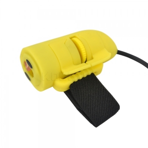 Mini USB 3D Optical Finger Ring HandHeld Mouse 1200dpi For Laptop PC Yellow