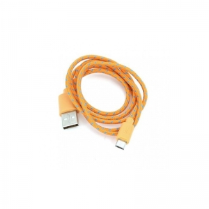 Omega cable microUSB 1m braided, orange (42318)
