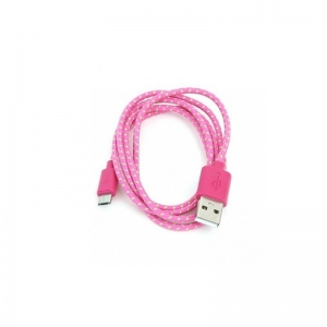 Omega Cable Micro USB 1m , PINK  (42319)